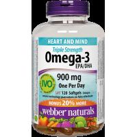 Webber Naturals Triple Strength Omega-3 900 mg EPA/DHA 120 softgels