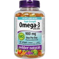 Webber Naturals Triple Strength Omega-3 900 mg EPA/DHA 80 softgels