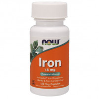 NOW Iron 18 mg Ferrochel 120 капсул