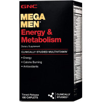 GNC Mega Men Energy & Metabolism 180 таблеток