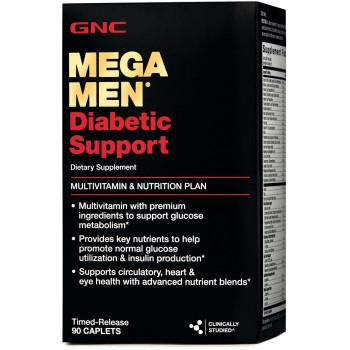 GNC Mega Men Diabetic Support 90 таблеток