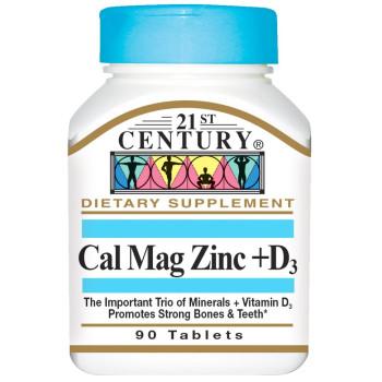 21st Century Cal Mag Zinc + D-3 90 таблеток