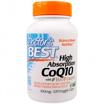 Doctor's Best High Absorption CoQ10 with BioPerine 100 mg 120 капсул