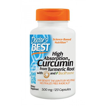 Doctor's Best High Absorption Curcumin 500 mg 120 капсул