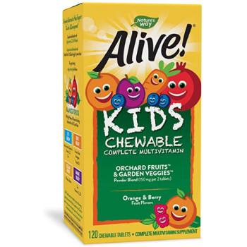 Nature's Way Alive! Children's Chewable Multi-Vitamin 120 жевательных таблеток