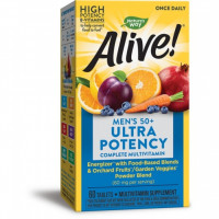 Natures Way Alive! Once Daily Men's 50+ Multi-Vitamin 60 таблеток