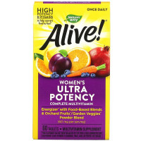 Natures Way Alive! Once Daily Women's Ultra Potency Multi-Vitamin 60 таблеток