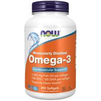 NOW Omega 3 200 Softgels