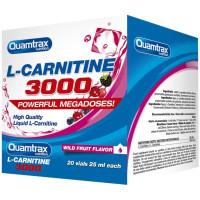Карнитин в ампулах Quamtrax Nutrition L-Carnitine 3000 20 флаконов по 25 мл