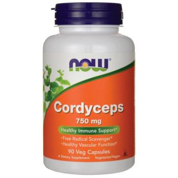 NOW Cordyceps 750 mg 90 капсул (Кордицепс)