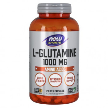 NOW L-Glutamine 1000 мг 240 капсул (Нав глютамин)