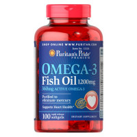 Puritan's Pride Omega-3 Fish Oil 1200 mg 100 Softgels