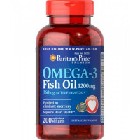 Puritan's Pride Omega-3 Fish Oil 1200 mg 200 капсул