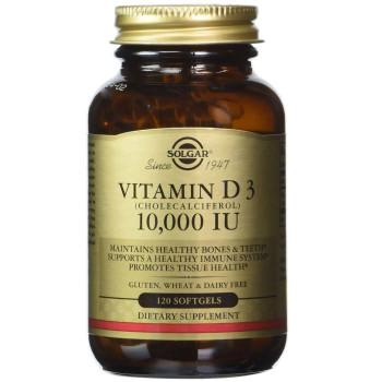 Solgar Vitamin D3 Cholecalciferol 10000 IU 120 капсул