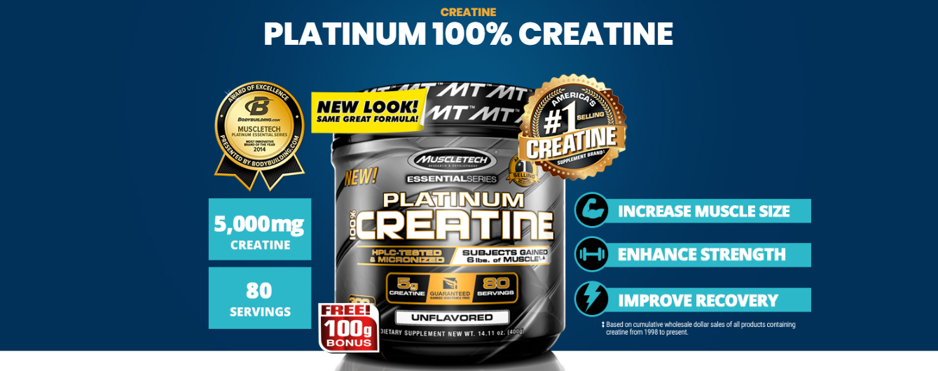 MuscleTech Platinum Creatine 400 грамм
