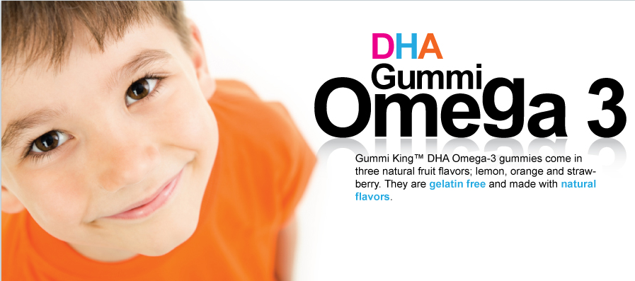 Gummi King DHA Omega-3 Gummi for Kids 60 Gummies